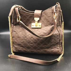 Marc Jacobs Collection Bag Quilted Brown Leather